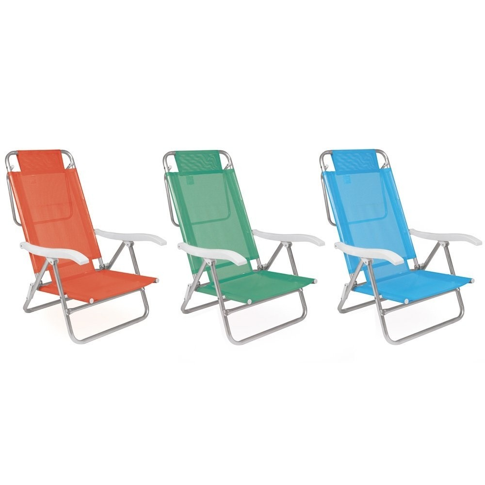 Cadeira Alumínio Reclinável
