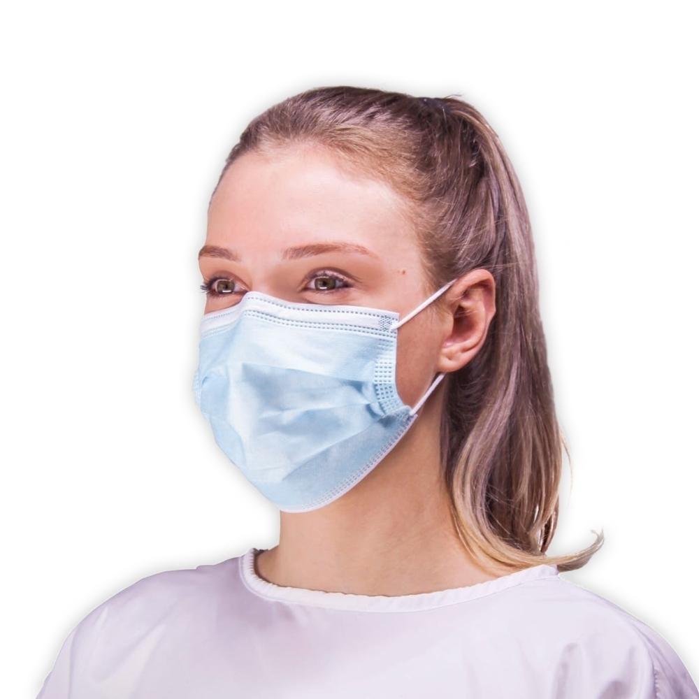 Máscara Descartável Camada Tripla com Clipe Nasal